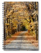 The Back Road In Autumn Spiral Notebook
