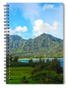 The Backside Of The Napali Coastline Spiral Notebook