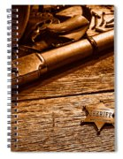The Badge - Sepia Spiral Notebook