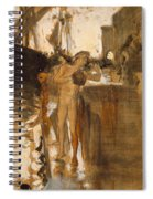 The Balcony, Spain Two Nude Bathers Standing On A Wharf Spiral Notebook