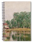 The Banks Of The Canal At Moret Sur Loing Spiral Notebook