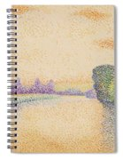 The Banks Of The Marne At Dawn 1888 Spiral Notebook