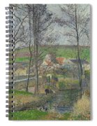The Banks Of The Viosne At Osny In Grey Weather, Winter Spiral Notebook