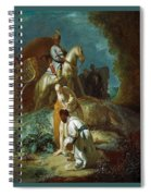The Baptism Of The Eunuch After Rembrandt Harmenszoon Van Rijn Spiral Notebook
