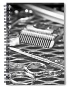 The Barber Shop 10 Bw Spiral Notebook