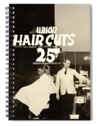 The Barbershop Window Spiral Notebook