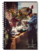 The Bargaining Table - Street Vendors Of New York Spiral Notebook