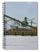 The Barge Waits At Aberdeen Spiral Notebook