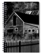 The Barn Bw  Spiral Notebook