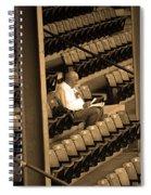 The Baseball Fan II Sepia Spiral Notebook
