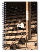 The Baseball Fan Sepia Spiral Notebook