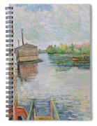 The Bateau Lavoir At Asnieres Spiral Notebook