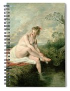 The Bath Of Diana Spiral Notebook