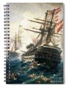 The Battle Of Lissa Spiral Notebook