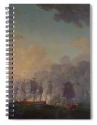 The Battle Of Louisbourg On The 21st July 1781 Spiral Notebook