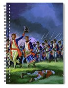 The Battle Of Saratoga, Showing A General Attack Led By Brigadier Arnold Spiral Notebook