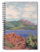 The Bay Of Agay Spiral Notebook