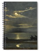 The Bay Of Naples By Moonlight With The Castel Dell'ovo Beyond Spiral Notebook