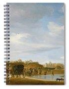 The Beach At Egmond An Zee Spiral Notebook