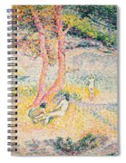 The Beach At St Clair Spiral Notebook