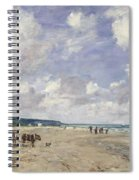 The Beach At Tourgeville Spiral Notebook