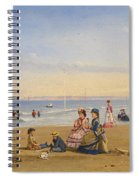 The Beach At Trouville Spiral Notebook