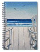 The Beach Chairs Spiral Notebook