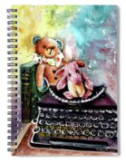 The Bear And The Sheep And The Typewriter From Whitby Spiral Notebook