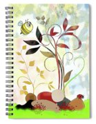 The Bee And The Ladybug Spiral Notebook