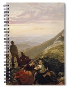 The Belated Party On Mansfield Mountain Spiral Notebook