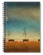 The Benches By The Moon Spiral Notebook