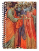 The Betrayal Of Judas Fragment 1311 Spiral Notebook