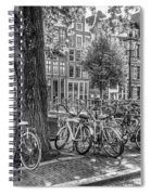 The Bicycles Of Amsterdam In Black And White Spiral Notebook