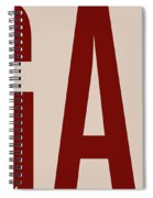 The Big Art - Dark Red On Egyptian Rose Spiral Notebook