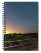 The Big Dipper Over The Lights Of Provincetown Ma Spiral Notebook