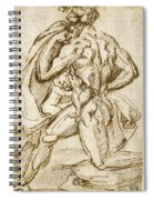 The Birth Of Bacchus From Jupiter's Thigh Spiral Notebook