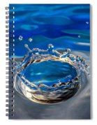 The Birth Of Blue Spiral Notebook