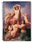 The Birth Of Venus Spiral Notebook