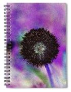 The Black Dandolion Spiral Notebook