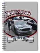 The Black Widow Butterfield Spiral Notebook
