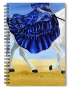 The Blue And The White - Princess Starliyah Riding Candis Spiral Notebook