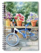 The Blue Bicycle Spiral Notebook