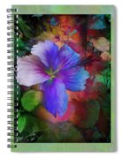 The Blue China Rose  Spiral Notebook