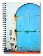 The Blue Door Shutters Spiral Notebook