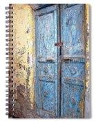 The Blue Doors Nubian Village Spiral Notebook