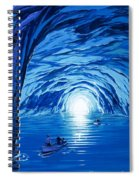 The Blue Grotto In Capri By Mcbride Angus  Spiral Notebook