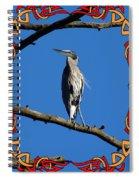 The Blue Heron Claimed He Was Framed Spiral Notebook