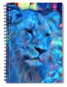The Blue Lioness Spiral Notebook