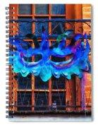 The Blue Mask Spiral Notebook