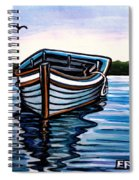 The Blue Wooden Boat Spiral Notebook